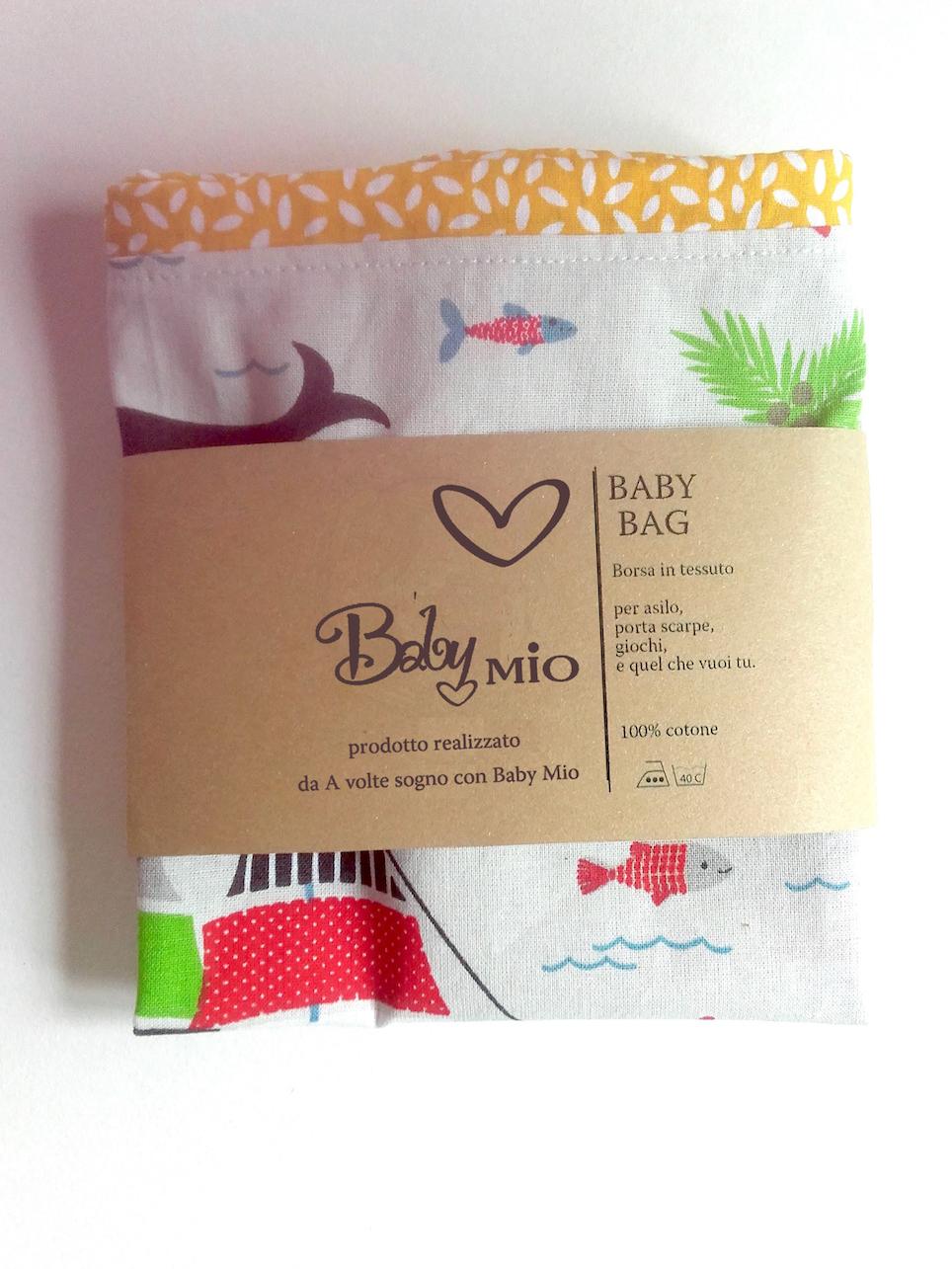 d0457c0214 Sacca asilo nido o materna personalizzata artigianale Made in Italy ...